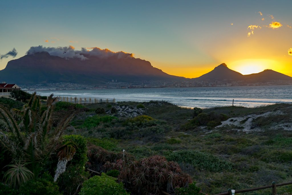 Cape Town, South Africa, Table Mountain, sunset