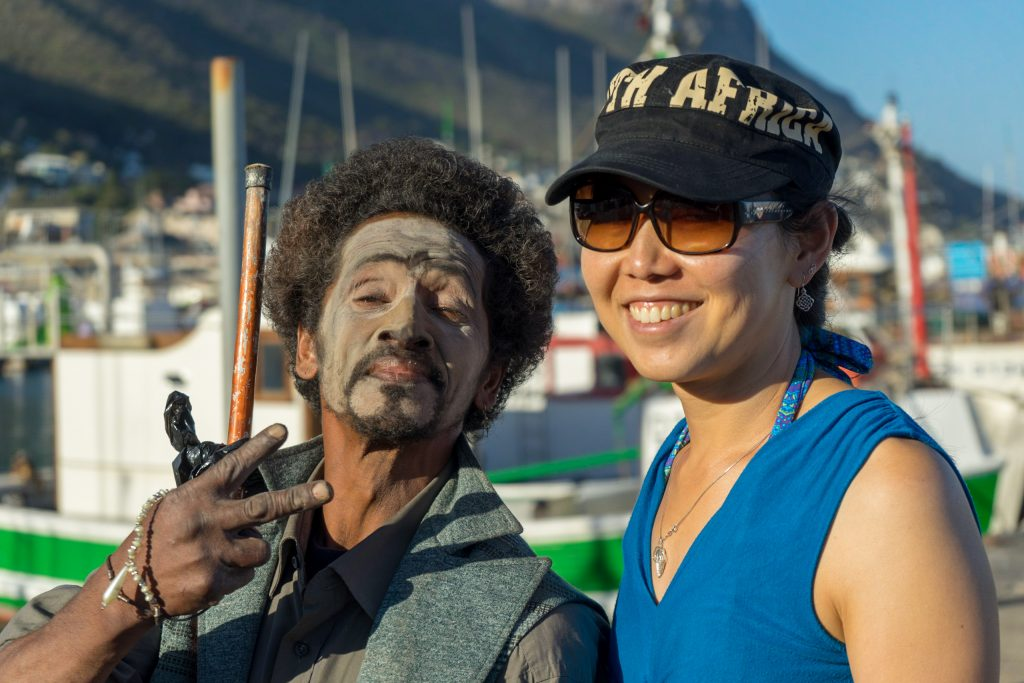 Colorful characters of Kalk Bay we met while House sitting in South Africa