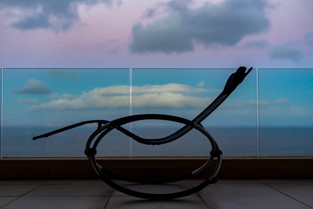 chair, deck, ocean view