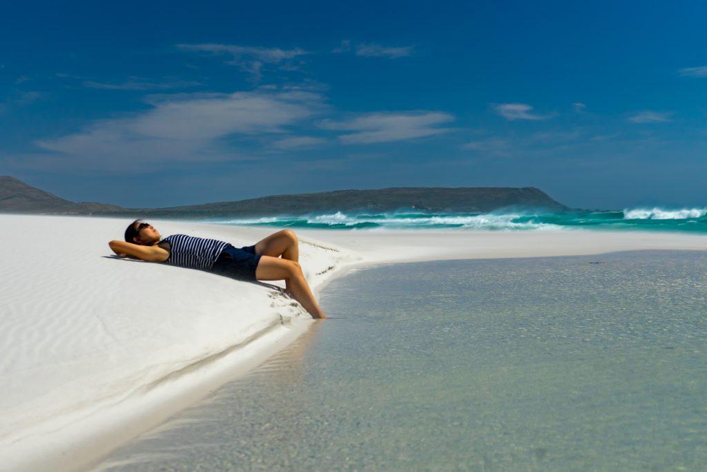 The beautiful Noordhoek Beach House sitting in South Africa