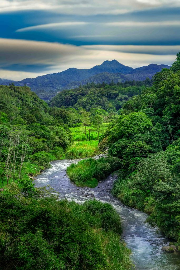 Wilson Bridge, Boquete, Panama, viewpint, river, mountains