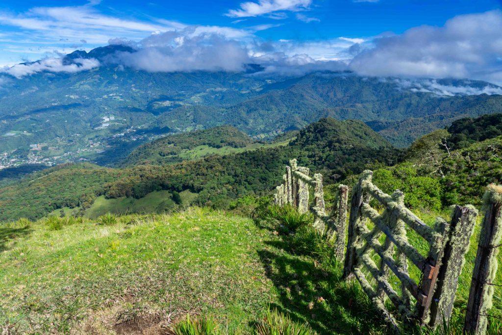 old gate, mountain, volcano, Boquete, Panama