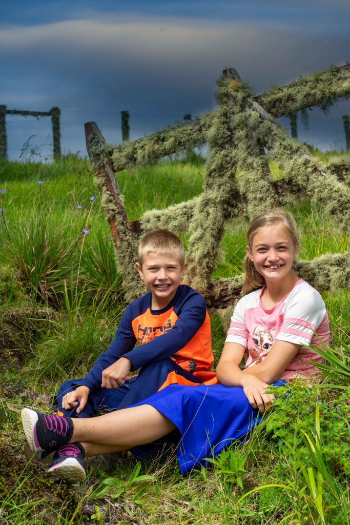 kids, gate, hiking, Boquete, Panama