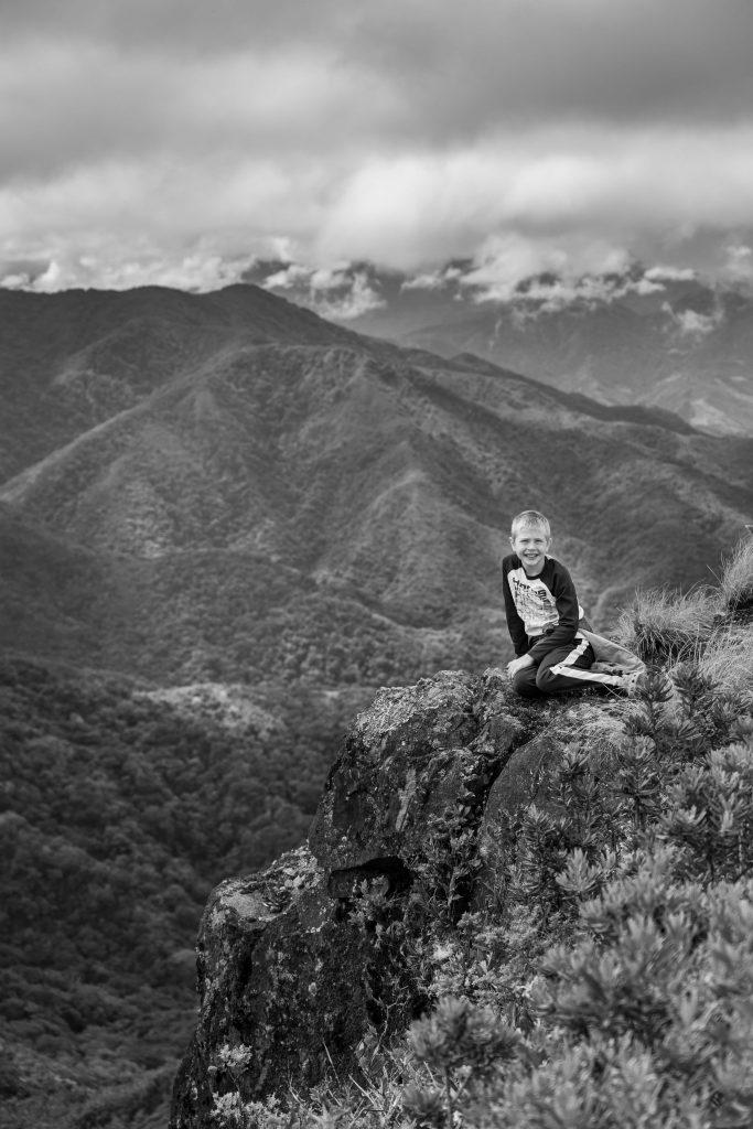 kid, viewpoint, hiking, Boquete, Panama