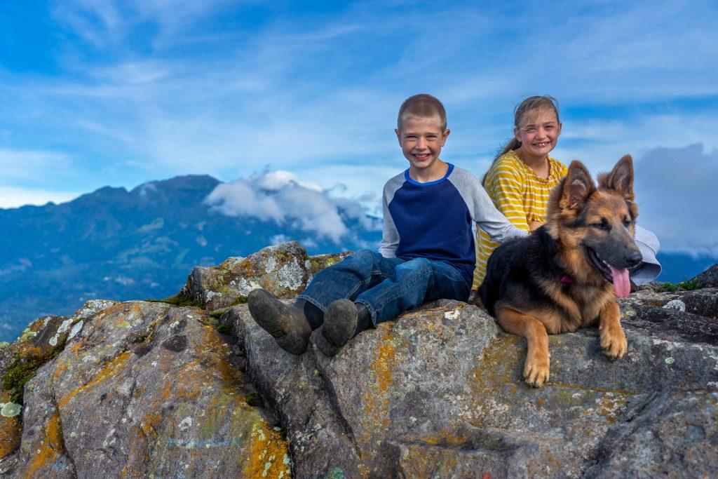 Artillery Hill, Cerro La Artilleria, map Boquete, Panama, hiking, trail, summit, kids, dog, German Shepard
