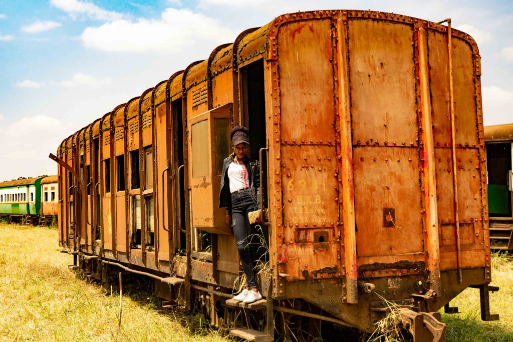 old train, Nairobi, Kenya, railway museum