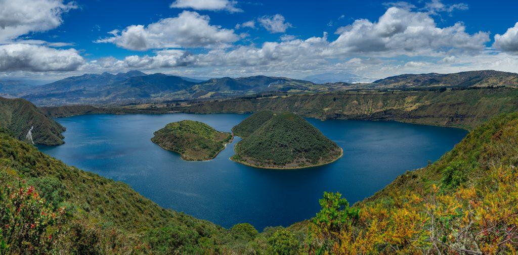 hiking, Ecuador, Otavalo, Cuicocha lake , volcano, hiking trail