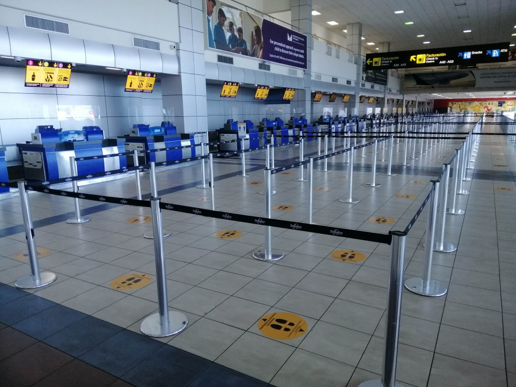 COVID-19 travel, PTY airport, Panama City, Panama