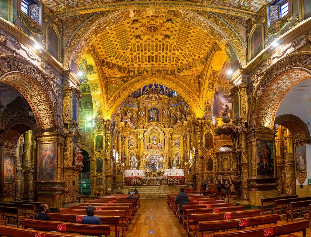 Quito, Ecuador, churchCOVID-19,