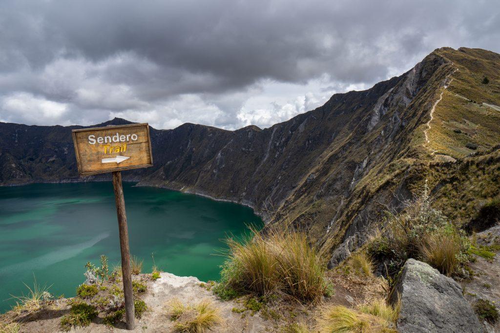 Laguna de Quilotoa, hiking, Ecuador, Vuelta al Crater