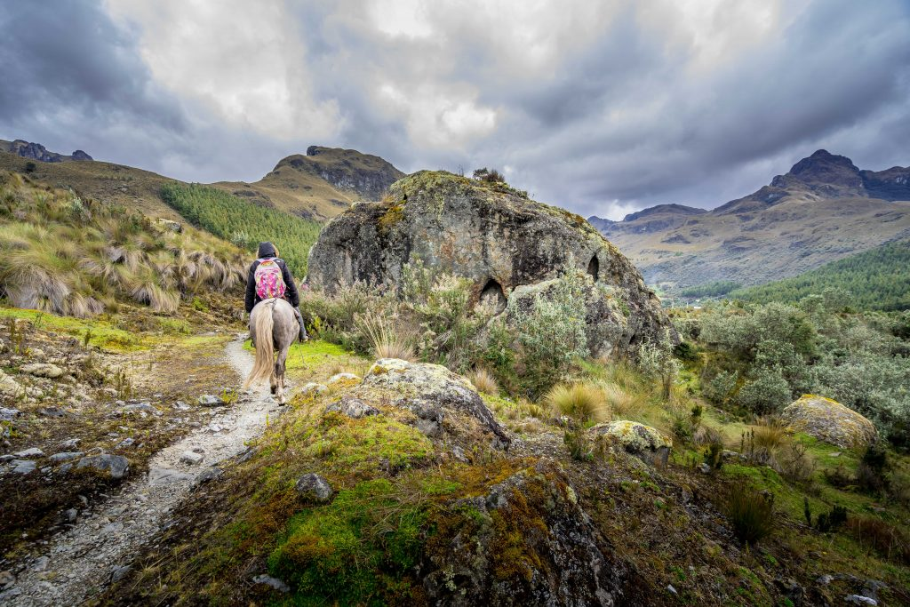 hiking, Cuenca, Ecuador, Cajas National Park, Parque Nacional Cajas, horse