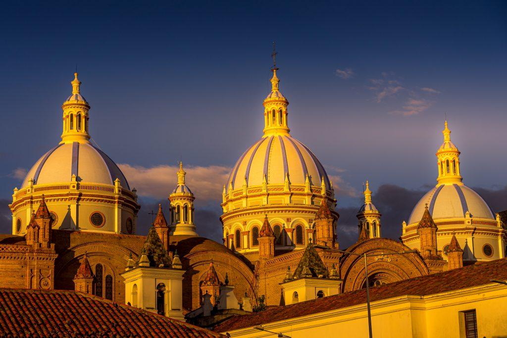 Cuenca, Ecuador, cathedral, domes