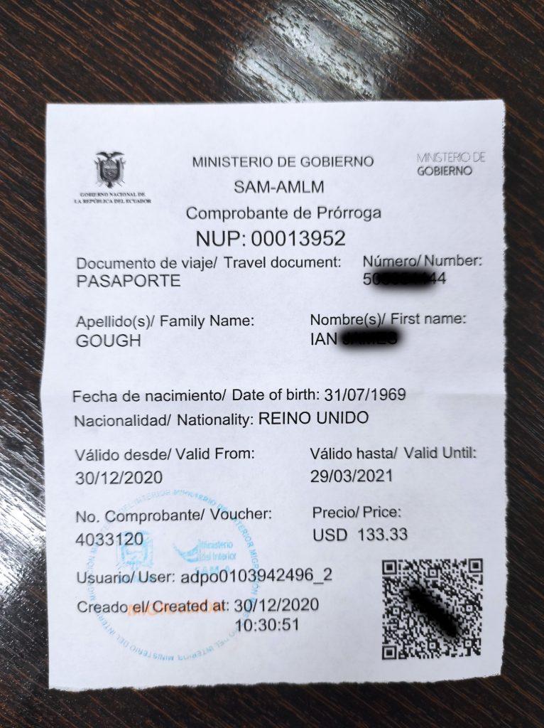 visa extension, Ecuador, Cuenca