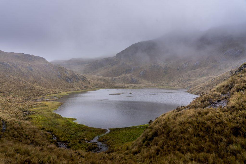 hiking, Cajas National Park, Parque Nacional Cajas, Cuenca, Ecuador, Route 4, lakes