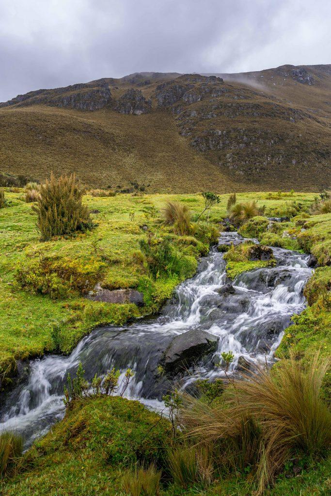 hiking, Cajas National Park, Parque Nacional Cajas, Cuenca, Ecuador, Route 4, river, stream
